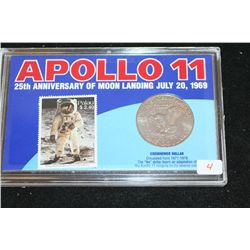 "1971-D Eisenhower $1 Coin; ""Apollo 11-25th Anniversary of Moon Landing"""