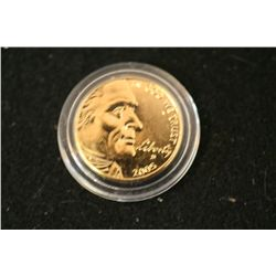 2005-D Westward Journey Nickel; CLAD Gold