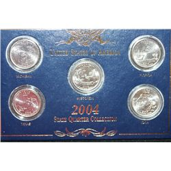 2004-D US State Quarter Coin Set; Lot of 5