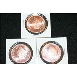 Golden State Mint Copper Round; .999 Fine Copper 1/2 Oz.; Lot of 3
