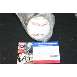 Authentic Autographed Baseball; Stan Muscial; COA Included