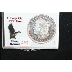 Silver Round; .999 Fine Silver 1 Oz.