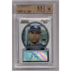 2005 Bowman Sterling C.J. Henry Autographed Rookie Card-Graded BGS 9.5!