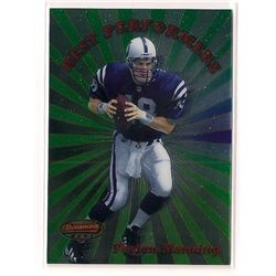 1998 Bowman's Best Performers Peyton Manning Rookie Insert Card #BP1