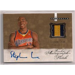 2007-08 Hot Prospects Stephane Lasme Autographed Event-Worn Material Rookie Card-#/599!