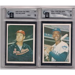 Lot of (2) 1978 TCMA Hall of Fame Cards-Graded Mint 9!