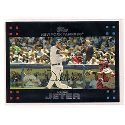 2007 Topps Short-Printed Derek Jeter Card with Mantle and George Bush