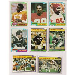 Lot of (40) 1981 Topps Football Cards