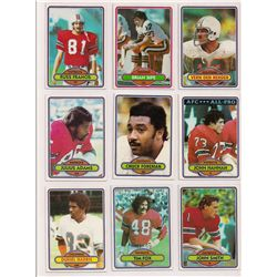 Lot of (30) 1980 Topps Football Cards