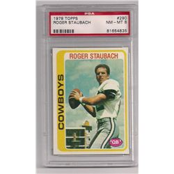 1978 Topps Roger Staubach Card #290-Graded NM-MT 8 by PSA