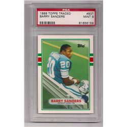 1989 Topps Traded Barry Sanders Rookie Card #83T-Graded PSA 9!