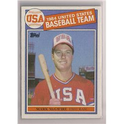 1985 Topps Mark McGwire Olympic Rookie Card #401