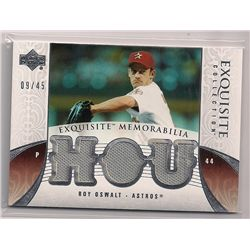2006 Upper Deck Exquisite Roy Oswalt Triple Game-Used Material Insert Card-#/45!