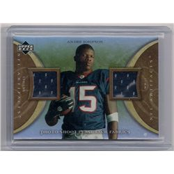 2007 Artifacts Football Andre Johnson Dual Event-Worn Material Insert Card
