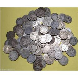A lot of (100)Barber Quarters