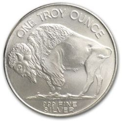 A 1 oz. Silver Buffalo Bullion