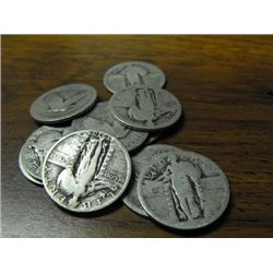10 Standing Liberty Quarters
