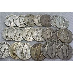 20 Standing Liberty Quarters