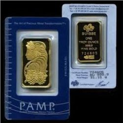 A 1oz. Pamp Suisse Gold Bar