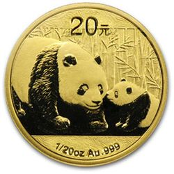 A 1/20 oz. Gold Chinese Panda Bullion