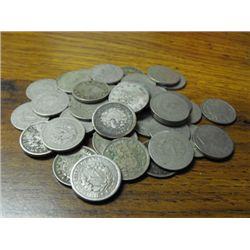 Lot of (50) V Nickels