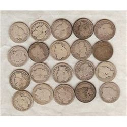 A lot of (20)Barber Quarters