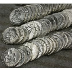 Lot of 100 Peace Silver Dollars- Good- AU