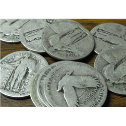 LOT OF 100 STANDING LIBERTY QUARTERS