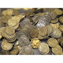 LOT OF 200 BUFFALO NICKELS-