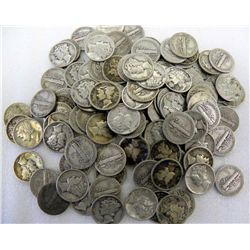 LOT OF 200 MERCURY DIMES