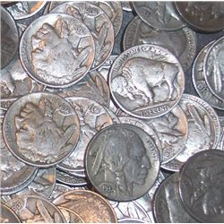Lot of 100 Buffalo Nickels- Various Partial DATE