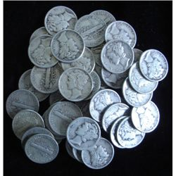 Lot of 100 Mercury Dimes- 1940's