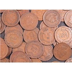 Lot of 20 Indian Head Cents-Circulated