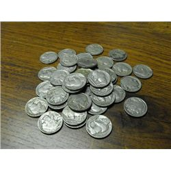 Lot of  40 Buffalo Nickels-
