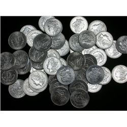 Lot of 50 Uncirculated Morgan Silver Dollars