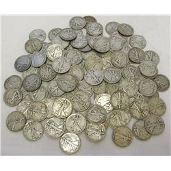 Lot of 60 Walking Liberty Halves- Various Dates