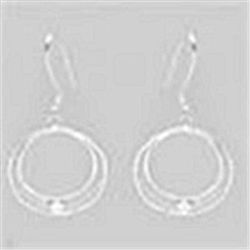 STERLING SILVER .925 FILIGREE  HOOP EARRINGS