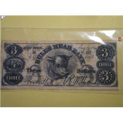 1864 $3.00 BANK NOTE(replica)