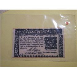 1776 $10.00 BANK NOTE(replica)