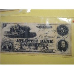 1867 $5.00 BANK NOTE (replica)