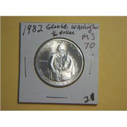 1982 GEORGE WASHINGTON SILVER 1/2 DOLLAR