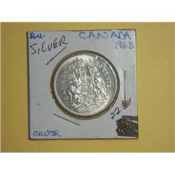 1963 SILVER CANADIAN 1/2 DOLLAR