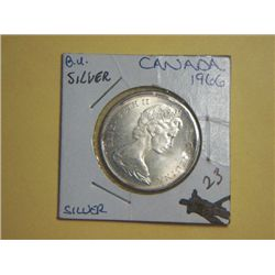 1966 SILVER CANADIAN 1/2 DOLLAR