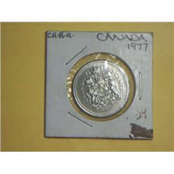 1977 SILVER CANADIAN 1/2 DOLLAR