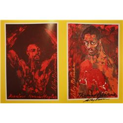 "Hand Signed Neiman ""The Fight"""