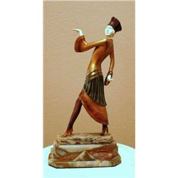 "Chiparus - ""Paris"" -Bronze And Ivory Sculpture"