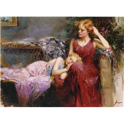 "PINO HAND SIGNED GICLEE ON CANVAS ""A MOTHER'S LOVE"""