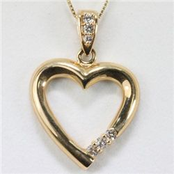 Genuine 0.24 ctw Diamond Necklace 14K Gold 4.03g