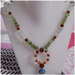Natural 268.25ct Semi Precious Necklace .925 Sterling
