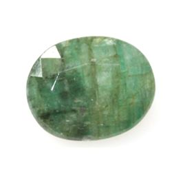 Natural 3.2ctw Emerald Oval Cut Stone
